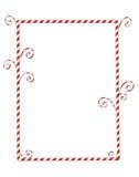 Cadre de Candycane d'isolement sur le blanc Image libre de droits
