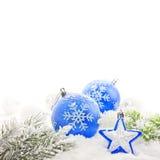 Cadre de carte de Noël Photographie stock