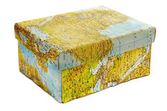 Cadre de carte du monde photographie stock