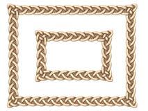 Cadre de Celtic d'or Images libres de droits