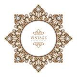 Cadre de cercle de bijoux d'or Image stock