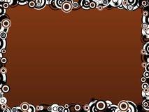 Cadre de cercle de Brown illustration libre de droits