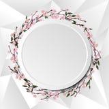 Cadre de cercle de Sakura Photographie stock