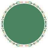 Cadre de cercle des feuilles d'usine Photos stock