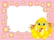 Cadre de chéri avec le lapin, illustration de vecteur Photo stock