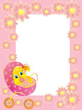 Cadre de chéri avec le lapin, illustration de vecteur Photographie stock libre de droits