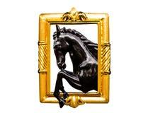 Cadre de cheval et d'or Photos libres de droits