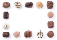 Cadre de chocolat Images libres de droits