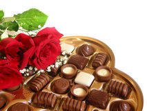 Cadre de cholocate de Valentine Photos stock