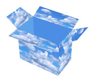 Cadre de ciel Photographie stock libre de droits