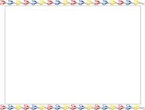 Cadre de ciseaux Photographie stock libre de droits