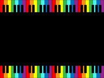 Cadre de clavier de piano d'arc-en-ciel Photographie stock libre de droits