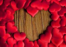 Cadre de coeur d'amour Photographie stock