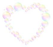 Cadre de coeur de bulles illustration libre de droits