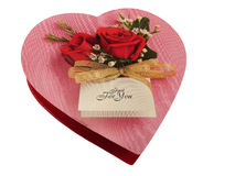 Cadre de coeur de chocolat. Photos stock