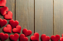 Cadre de coeurs d'amour Image libre de droits