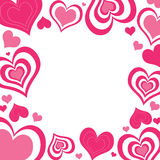 Cadre de coeurs de Valentine illustration stock