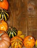 Cadre de coin de décoration de thanksgiving Photographie stock