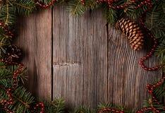 Cadre de composion de Noël avec l'espace vide pour Image libre de droits