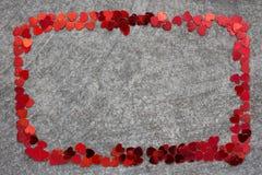 Cadre de confettis Photographie stock libre de droits