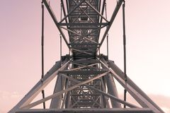 Cadre de construction en métal Photo stock