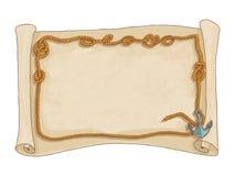 Cadre de corde et vecteur d'isolement par carte piraté Photographie stock libre de droits