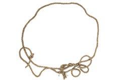 Cadre de corde ronde sur un fond blanc Image stock