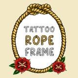 Cadre de corde de tatouage illustration de vecteur