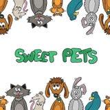 Cadre de créativité du ` s d'enfants Illustration de vecteur Images libres de droits