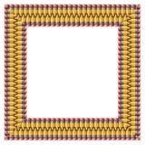Cadre de crayon Photographie stock libre de droits