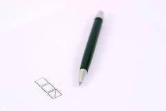 Cadre de crayon lecteur et de contrôle Photo stock