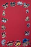Cadre de décorations de Noël Photo libre de droits