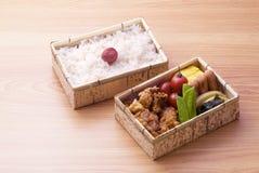 Cadre de déjeuner japonais images stock