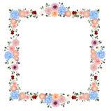 Cadre de d?coration de fleurs illustration stock