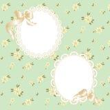 Cadre de dentelle avec des rubans Photo stock