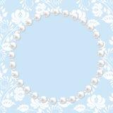 Cadre de dentelle et de perle Photo libre de droits