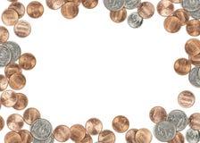 Cadre de devise de pièce de monnaie des USA Images libres de droits