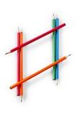 Cadre de diamant des crayons colorés Photographie stock libre de droits
