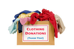 Cadre de donation de vêtements Photo libre de droits