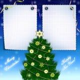 cadre de félicitations de Noël Photos libres de droits