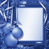 cadre de félicitations de Noël Images stock