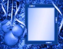 cadre de félicitations de Noël Photographie stock libre de droits