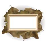 Cadre de feuilles d'automne Images libres de droits