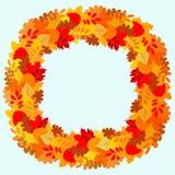 Cadre de feuilles d'automne Image libre de droits