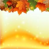 Cadre de feuilles d'automne Images stock