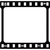 Cadre de film Silmstrip vide Photos libres de droits