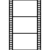 cadre de film 3x illustration stock