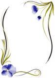 Cadre de fleur d'aquarelle Image libre de droits
