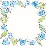Cadre de fleur d'aquarelle de vecteur Illustration florale d'aspiration de main Photographie stock