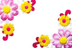 Cadre de fleur de synthèse Photo stock